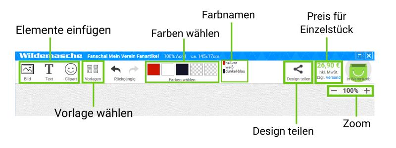 Online Designer Funktionen
