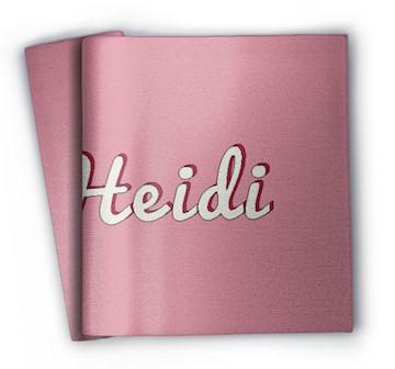 Namensdecke Heidi