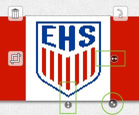 Fanschal Logo skalieren