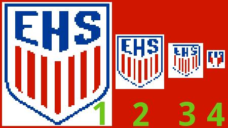 Größe Logo auf Fanschal erkennbar