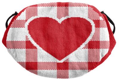Strickmaske Herz