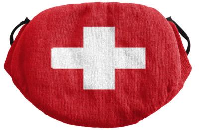 Strickmaske Schweiz Kreuz