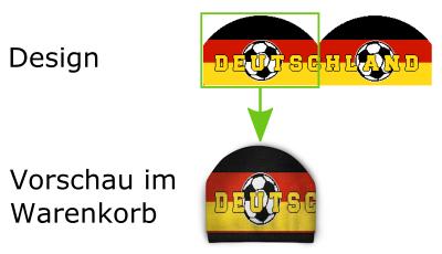 Mütze Design zu Vorschau
