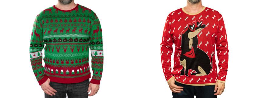 Weihnachtspullover vs Feinstrick