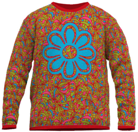 Pullover bunt und fein gestrickt