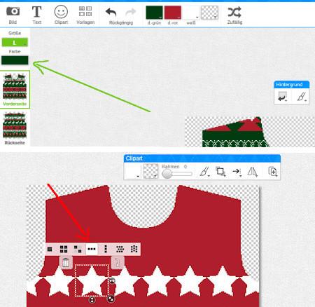 Weihnachtspullover Design Motiv wiederholen