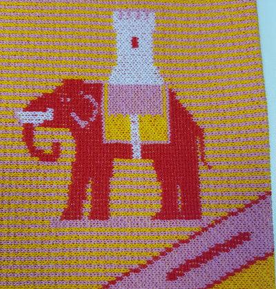 Elefant strick muster Jacquard