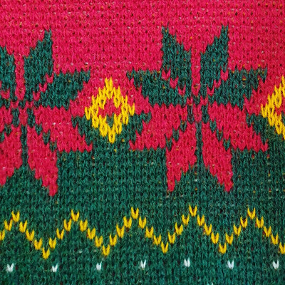 Strickmuster Weihnachtspullover Detail