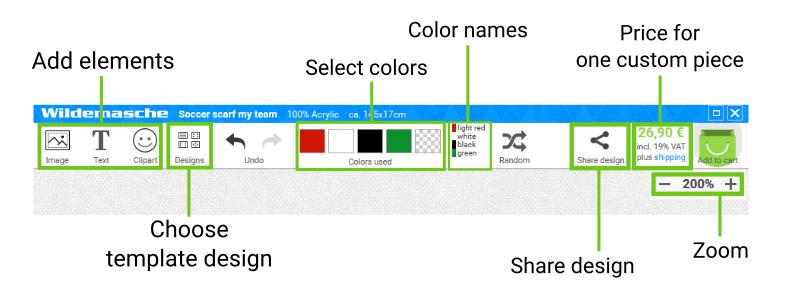 Online Designer main functions