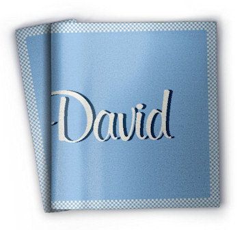 blanket with name David