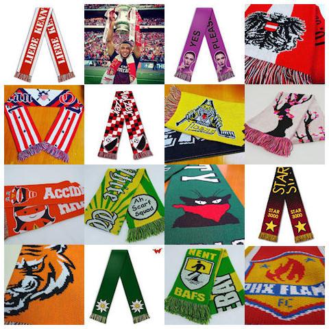 Category football scarf acrylic 0