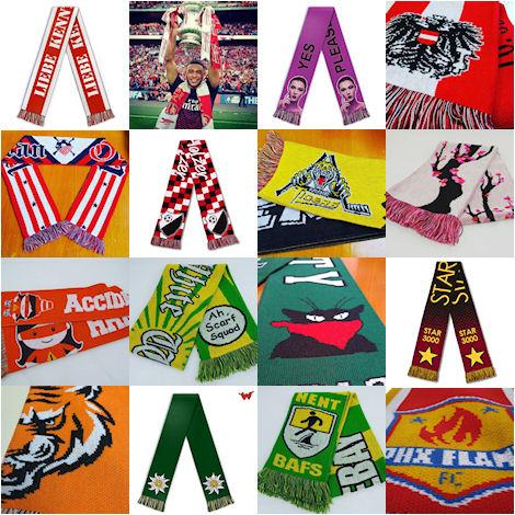 football scarf custom soccer scarves wildemasche