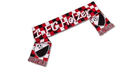Custom football scarf, acrylic 145x17cm