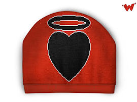 beanie with heart