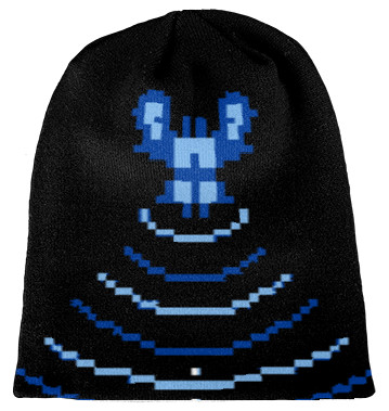 Knit beanie Space invader