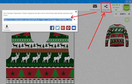 Sweater design create copy