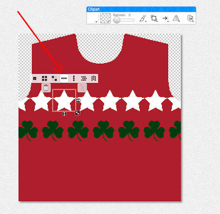 Holiday sweater, tiled design