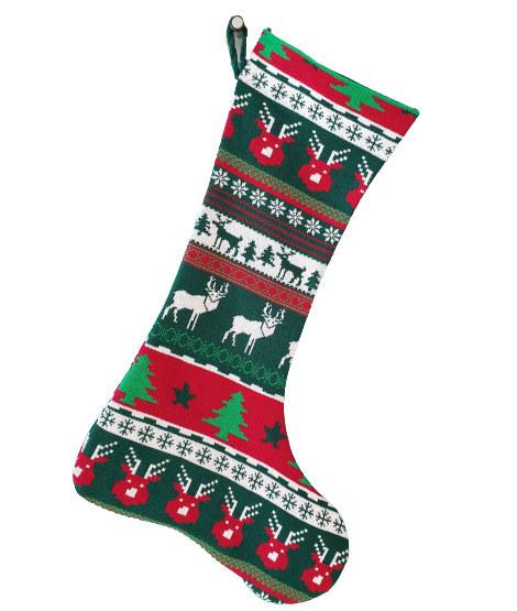 Knit stocking christmas