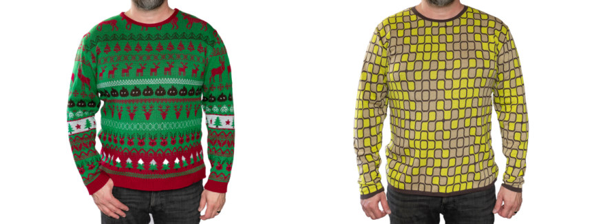Christmas sweater vs fineknit