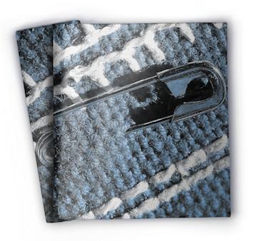 Wool blanket with needle