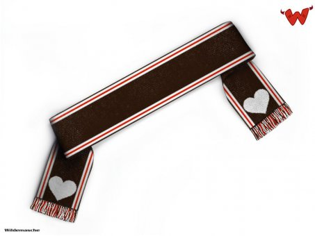 Football scarf hearts