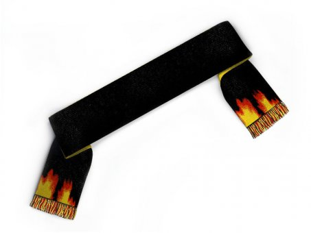 Custom scarf with flames
