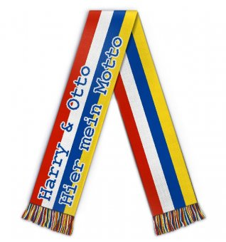 Soccer scarf with motto