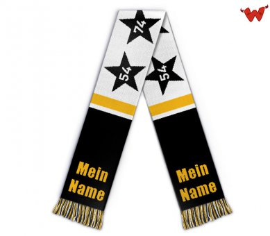 Football scarf Germany 4 stars