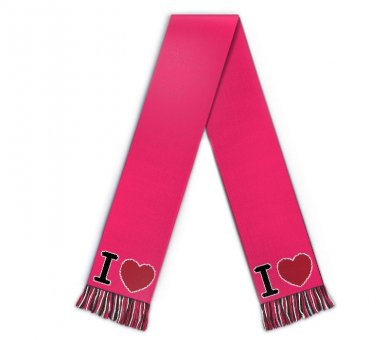 Football scarf I love