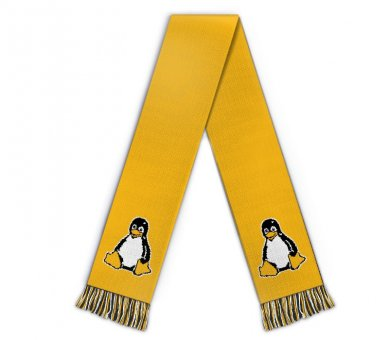 Football scarf penguin tux