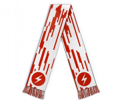 Football scarf red white