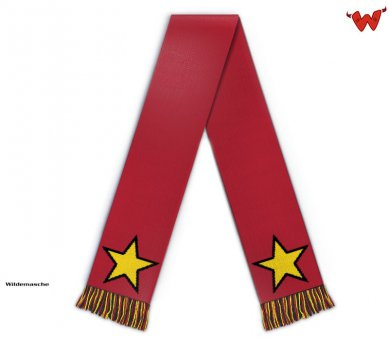 Football scarf with stars allover