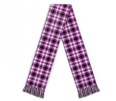 Kids Football scarf tartan pattern