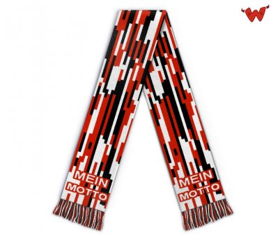 Maxi football scarf with motto