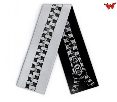 Knit scarf zipper