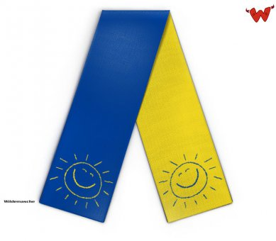 Design kids scarf with bright sun