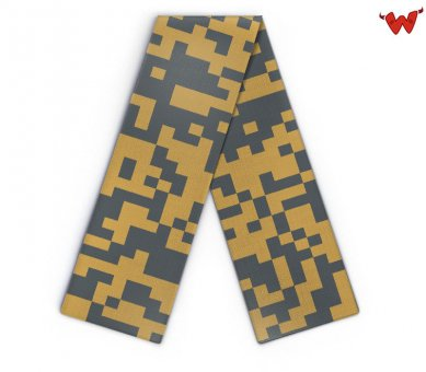 Maxi Design scarf pixel pattern