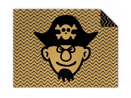 Baby Knit blanket pirate of the sea