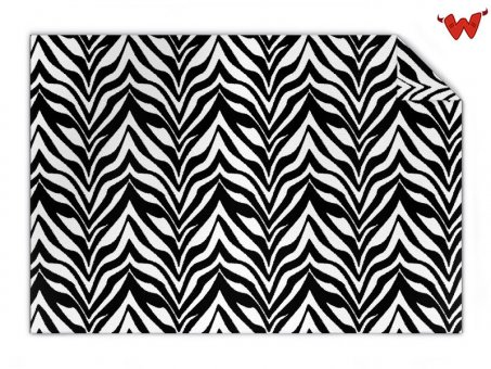 Knit blanket zebra