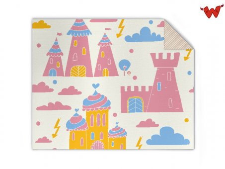 Baby blanket castle in the air
