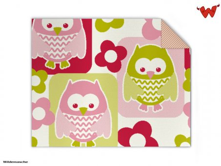 Baby Knit Blanket Owl