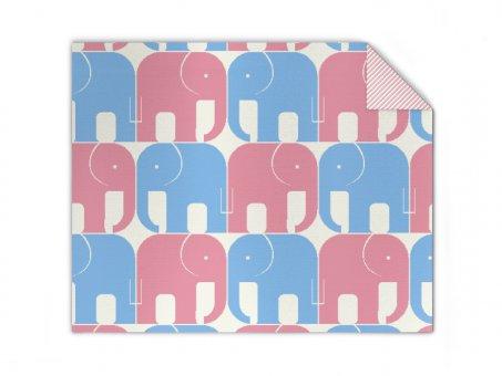 Babydecke bunte Elefanten