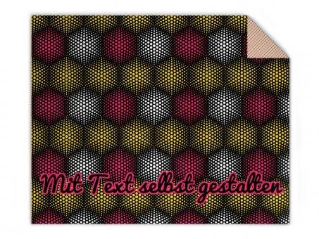 Knit blanket half tone