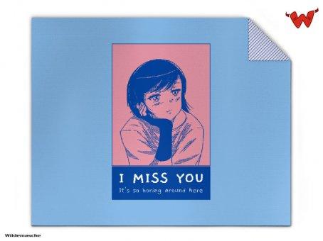 Strickdecke Ich vermisse dich
