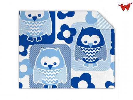 Babyblanket Owls organic cotton