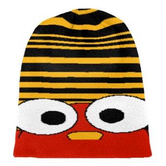 Knit hat comic beanie