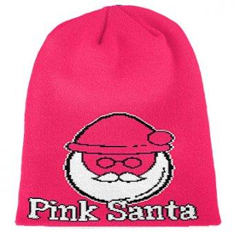 Pink Santa Strickbeanie