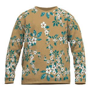 Feinstrick Pullover florales Muster