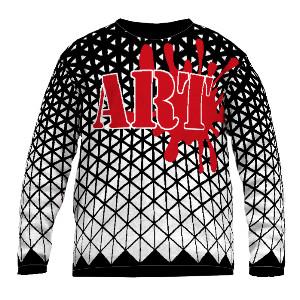Feinstrick Pullover Kunst Art