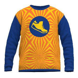 Fineknit sweater sunset sneaker